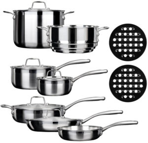 Duxtop ssc 14 piece stainless steel set