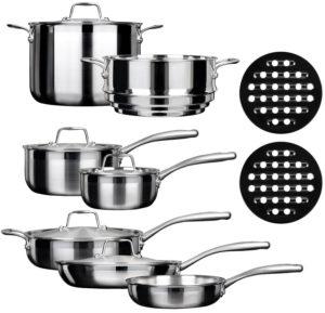 Duxtop ssc 14 piece stainless steel set
