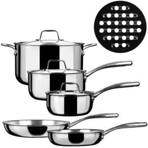 duxtop 9 piece stainless steel set