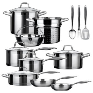 duxtop ssib-17 professional stainless cookware set