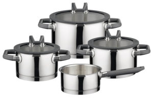 elo black pearl stainless steel cookware set