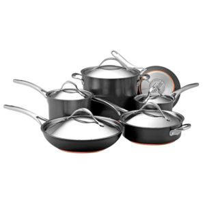 Anolon Nouvelle Copper Hard-Anodized Nonstick 11-Piece Cookware Set