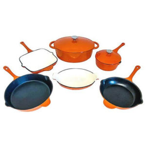 le chef enamel cast iron set