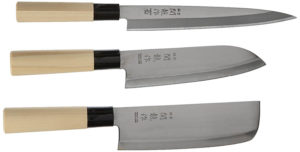 Happy Sales HSKN-3KN01, Set of 3 Japanese Sushi Chef Knives