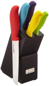 Cuisinart C59CE-C6P Elements Ceramic 6-Piece Cutlery Knife Block Set
