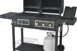 Durable Outdoor Barbeque & Burger Gas-charcoal Grill Combo