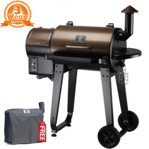 Z GRILLS ZPG-450A 2019 Upgrade Model Wood Pellet Grill & Smoker, 6 in 1 BBQ Grill Auto Temperature Control