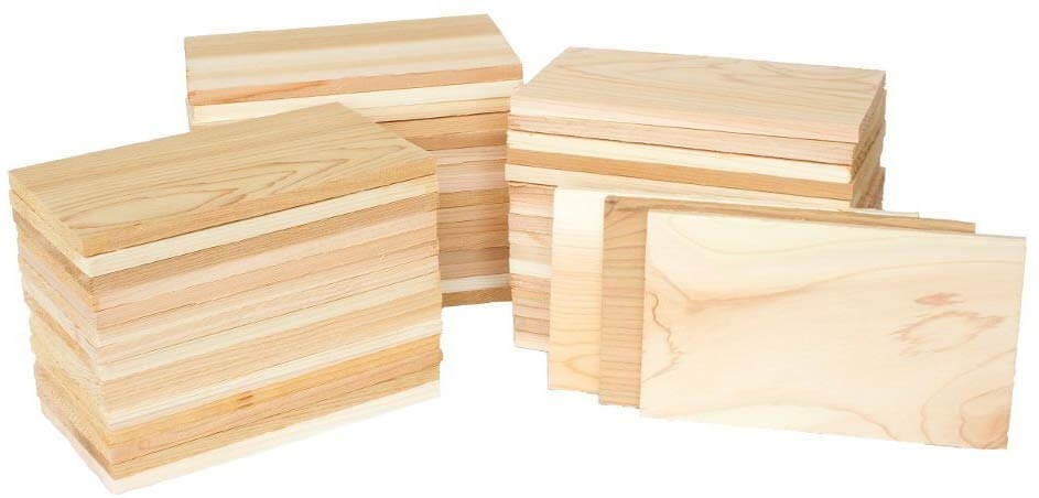 Case of 50 Small Cedar Grilling Planks Plate Size