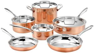 Cuisinart 10pc Tri-Ply Copper Cookware Set