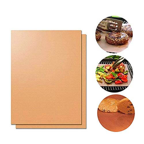 Kebley Set of 2-15.75 x 23.5 Inch Large BBQ Grill Mats Baking Mats, Non-Stick, Easy to Clean