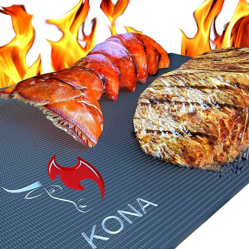 Kona Best BBQ Grill Mat - Heavy Duty 600 Degree Non