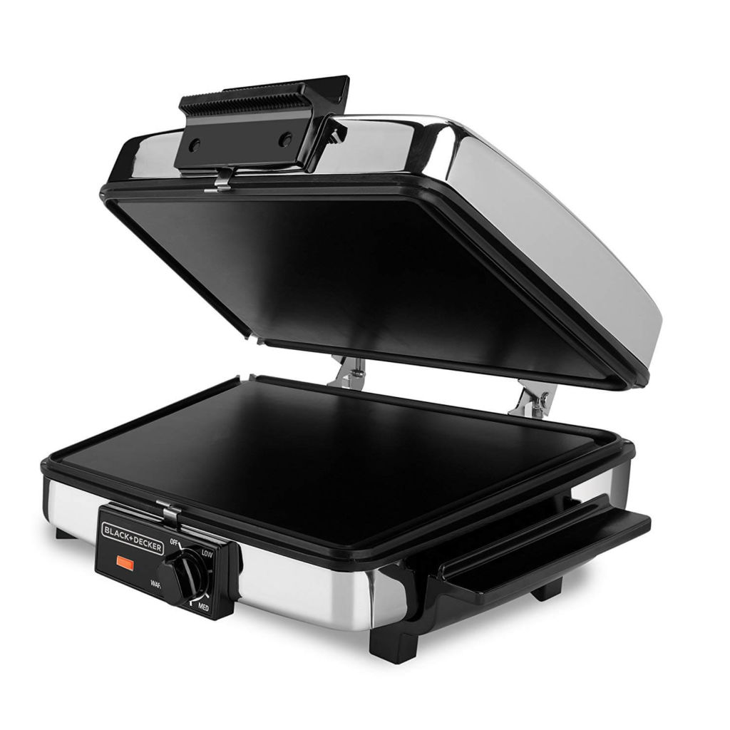 BLACK+DECKER 3-in-1 Waffle Maker with Nonstick Reversible Plates