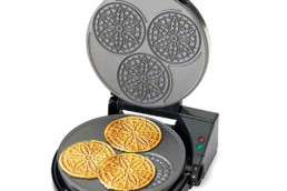 Chef'sChoice 835 PizzellePro Express Bake Nonstick Pizzelle Maker Features Color Select Control and Instant