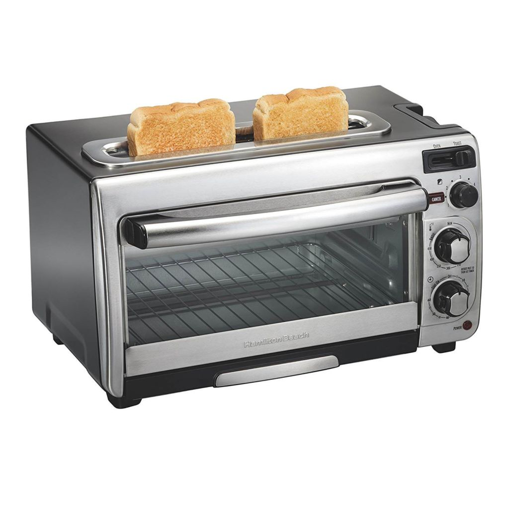 Hamilton Beach 2-in-1 Countertop Oven and Long Slot Toaster, Stainless Steel