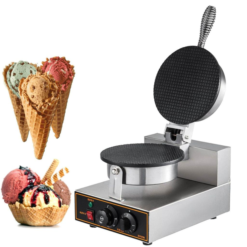 Happybuy Electric Ice Cream Cone Waffle Maker Machine 1200W Stainless Steel