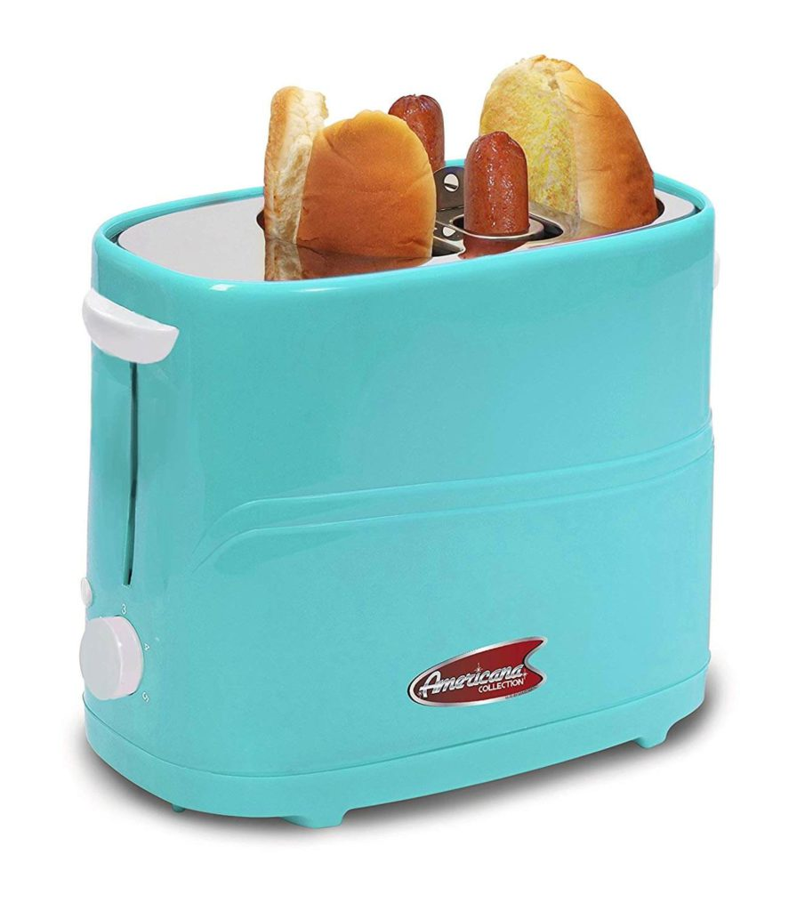 Americana By Elite ECT-542BL Retro Pop-Up Hot Dog Toaster