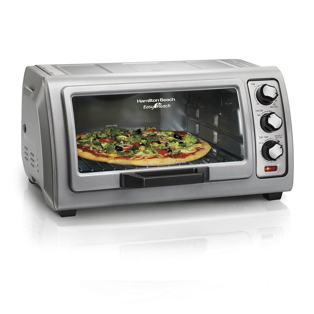 Hamilton Beach Countertop Toaster Oven Easy Reach with Roll-Top Door