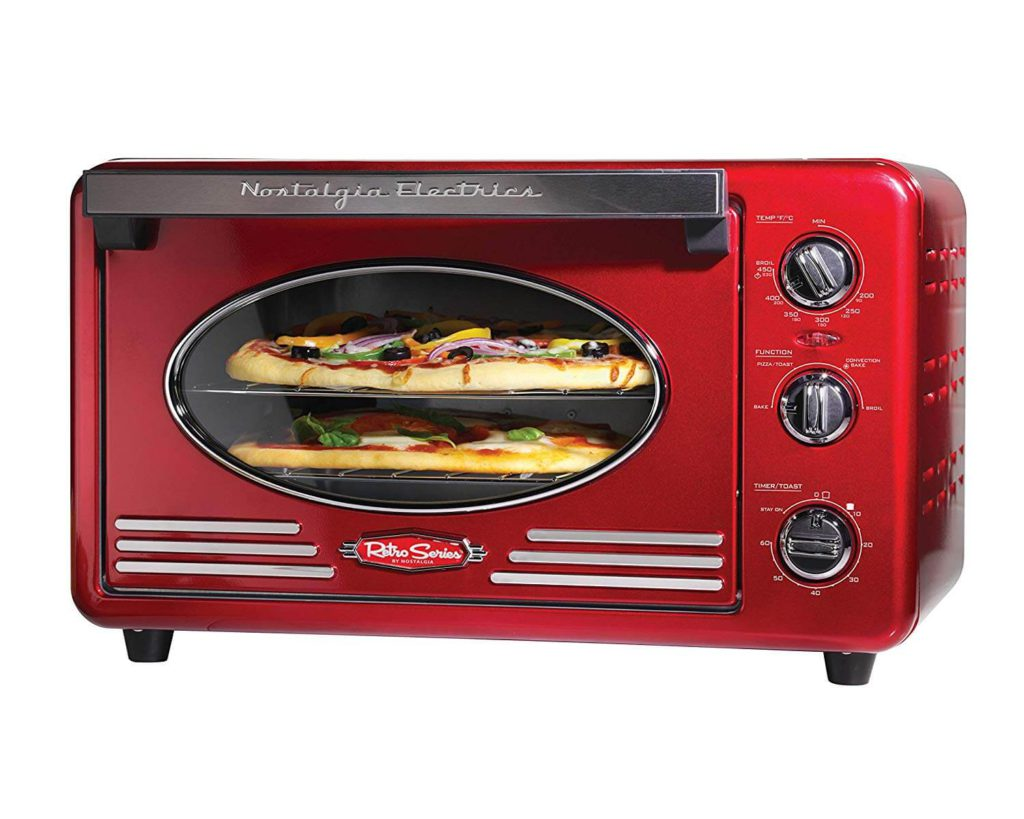 Nostalgia RTOV220RETRORED Retro 12-Slice Convection Toaster Oven