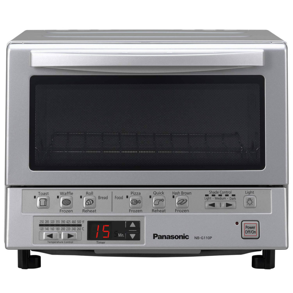 Panasonic Toaster Oven NB-G110P FlashXpress with Double Infrared Heating and Removable 9-Inch Inner Baking Tray