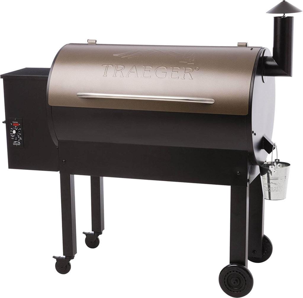 Traeger Grills TFB65LZBC Texas Elite 34 Wood Pellet Grill & Smoker, 646 Sq. In. Cooking Capacity, Bronze