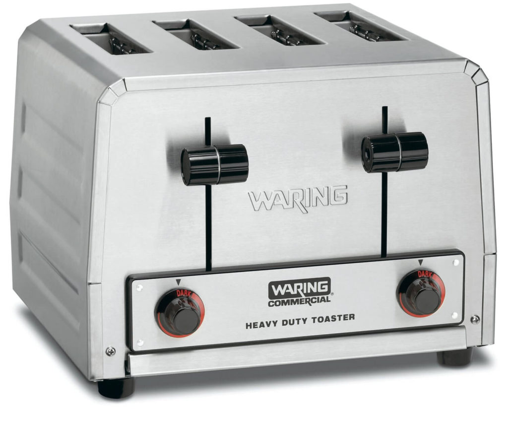 Waring Commercial WCT805 Heavy Duty Stainless Steel Standard Toaster