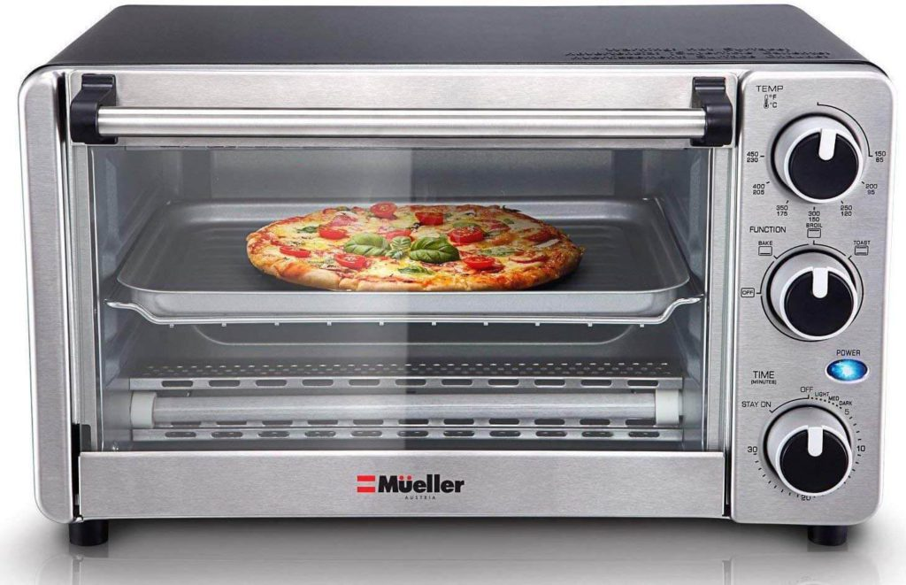Toaster Oven 4 Slice Multi function Stainless Steel with Timer