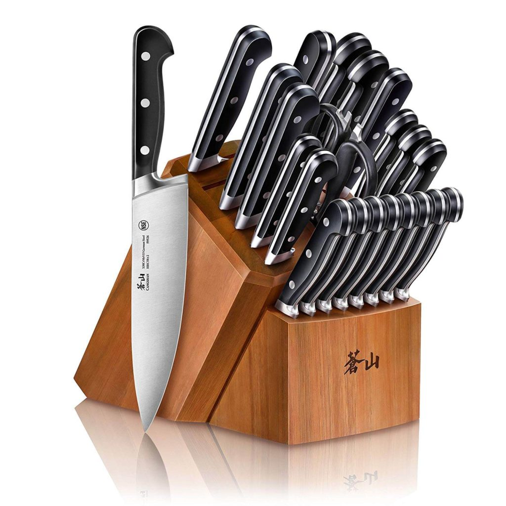 Cangshan V2 Series 1024128 German Steel Forged 23 Piece Knife Block Set