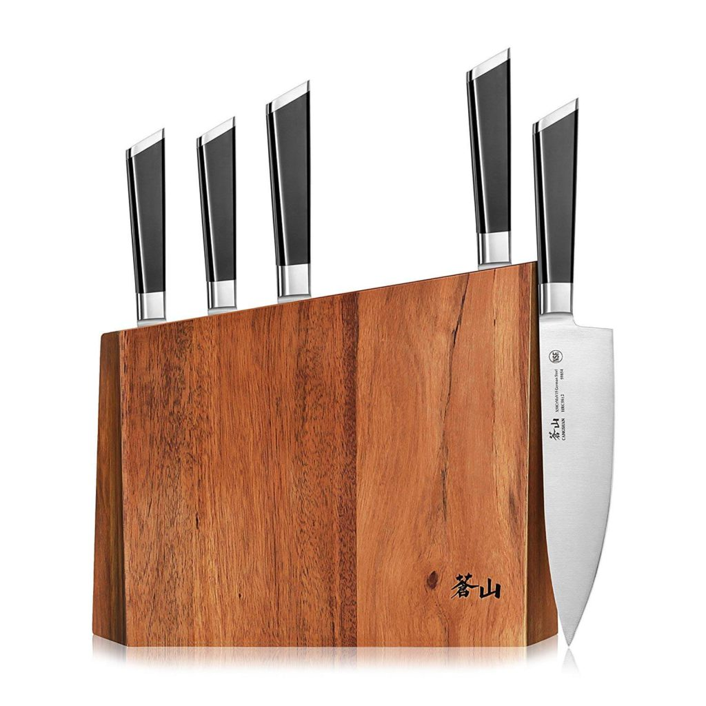 Cangshan Y2 Series 59212 6 Piece German Steel Forged Knife Block Set
