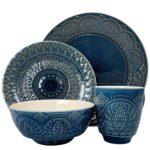 Elama ELM Petra 16 Piece Stoneware Dinnerware Set