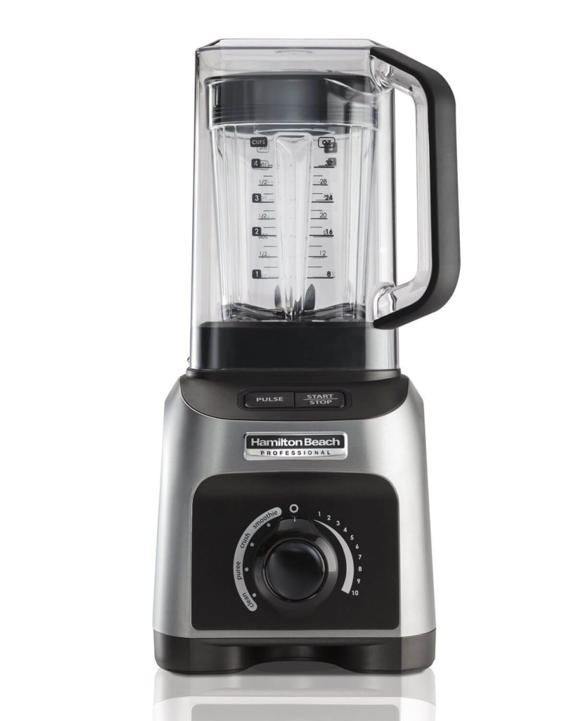 Hamilton Beach Professional 1500W Quiet Shield Blender with 32 oz BPA-free Jar & 4 Programs