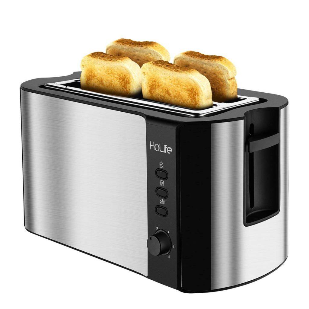 HoLife 4 Slice Long Slot Toaster Best Rated Prime