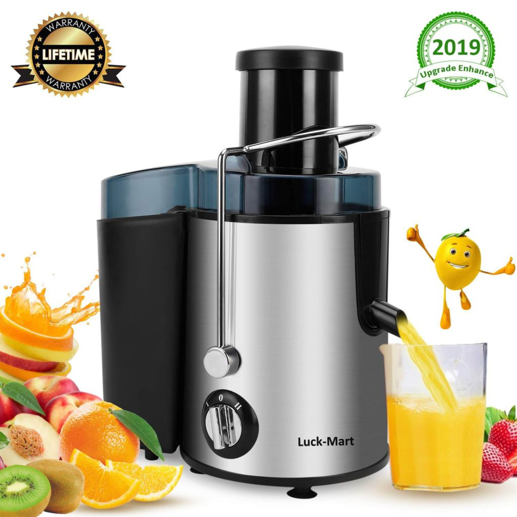Juicer Juicer Machine Real 3 Whole Fruit and Vegetable Feeder Chute Juice Extractor Dual Speeds Centrifugal Juicer Anti-drip Stainless Steel and BPA Free
