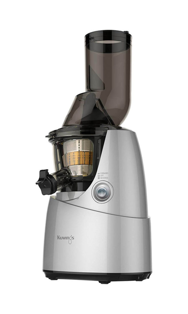 Kuvings BPA-Free Whole Slow Juicer Silver B6000S with Sortbet Maker