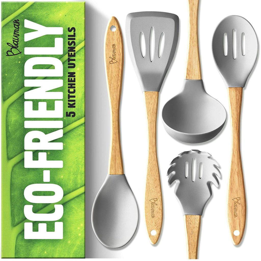 New Wooden Kitchen Utensils Set