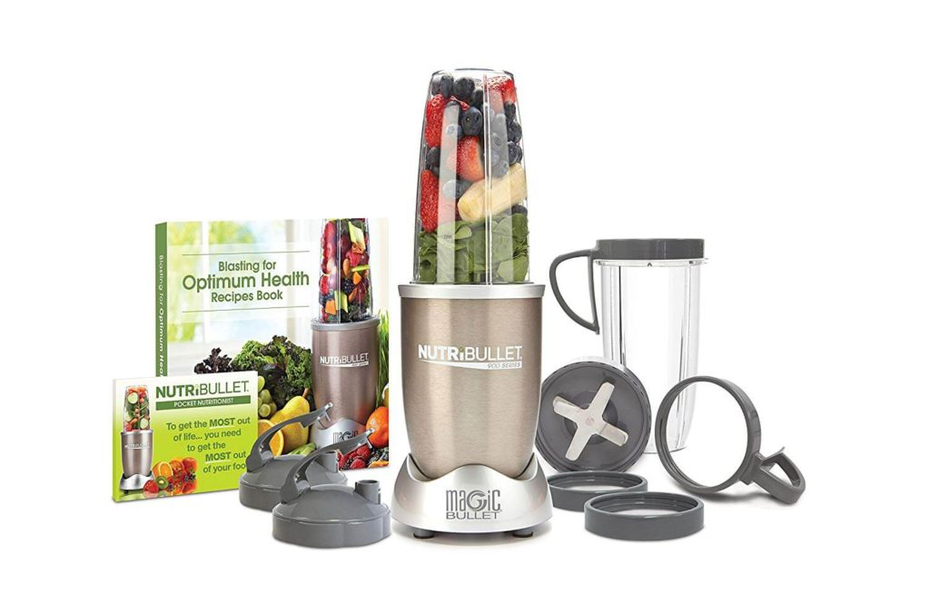 NutriBullet Pro - 13-Piece High-Speed Blender Mixer System with Hardcover Recipe Book Included