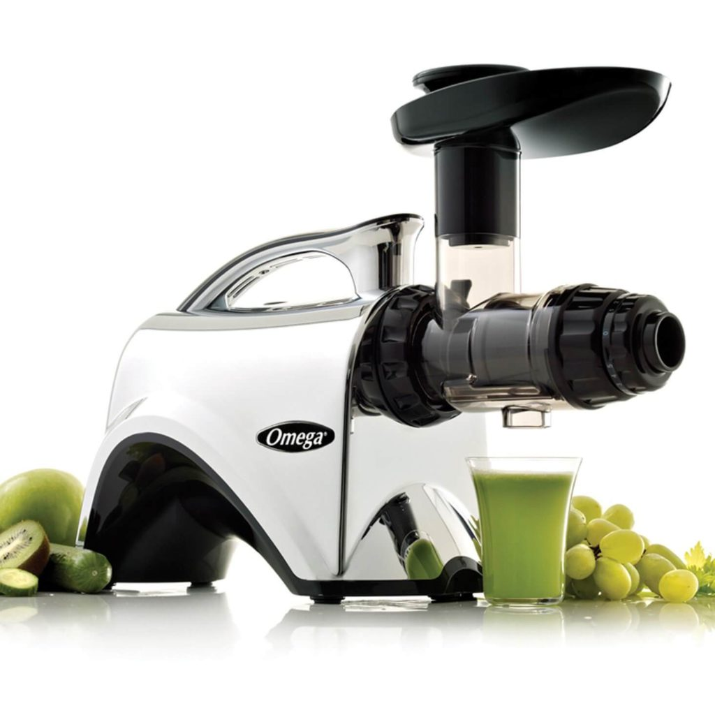 Omega NC900HDC Juicer Extractor and Nutrition Center Creates Fruit Vegetable & Wheatgrass Juice Quiet Motor Slow Masticating Dual-Stage Extraction