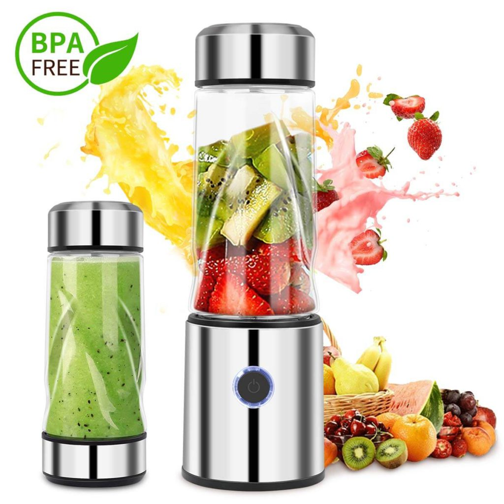 iFedio Personal Portable Blender Smoothie USB Rechargeable Quiet Mini Mixer Juicer Cup Travel