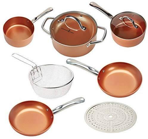 Copper Chef Cookware 9Pc