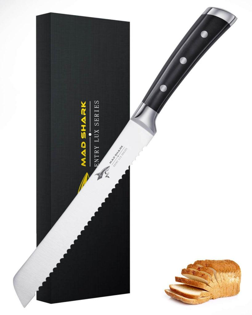 Bread Kinfe MAD SHARK 8 Inch Pro Serrated Bread Cutter