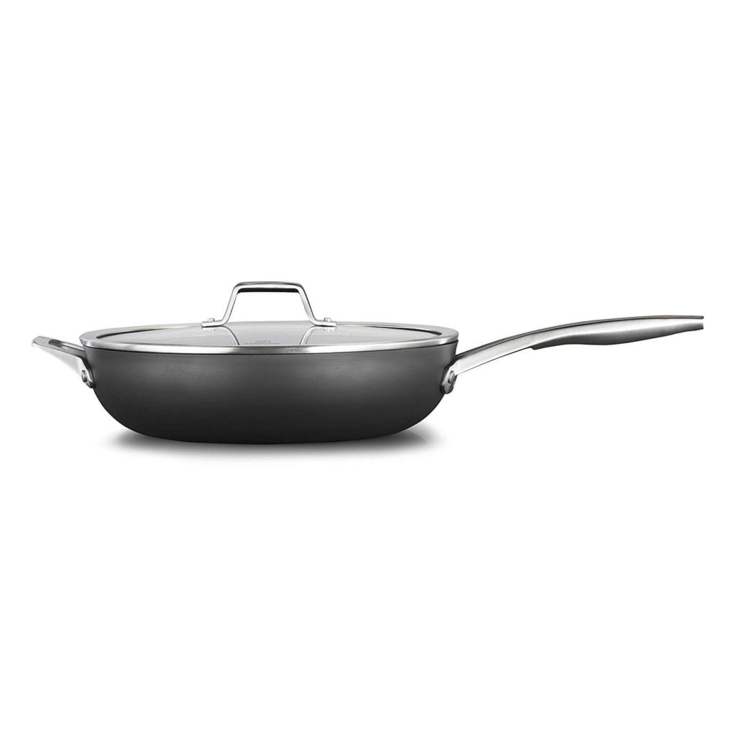Calphalon 2029650 Premier Hard Anodized Nonstick 13 Inch Deep Skillet with Cover Black