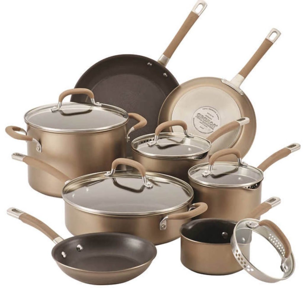 Circulon Premier Professional 13 piece Hard-anodized Cookware Set Stainless Steel Base
