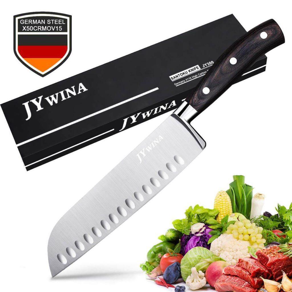 Classic 7 inch Hollow Ground Santoku Knife