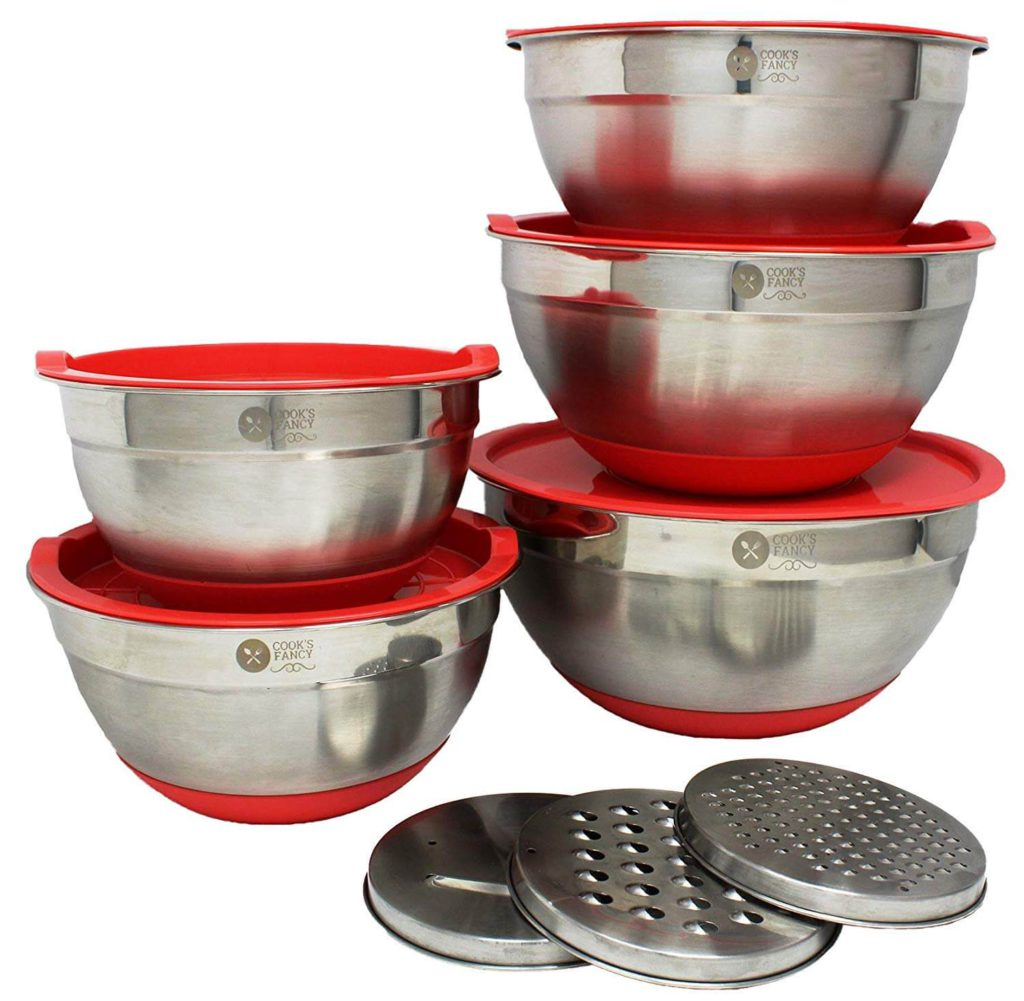 Cooks Fancy 5 Piece Professional Stainless-Steel Mixing Bowl Set