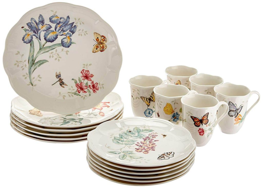 Lenox butterfly meadow 18 piece dinnerware set