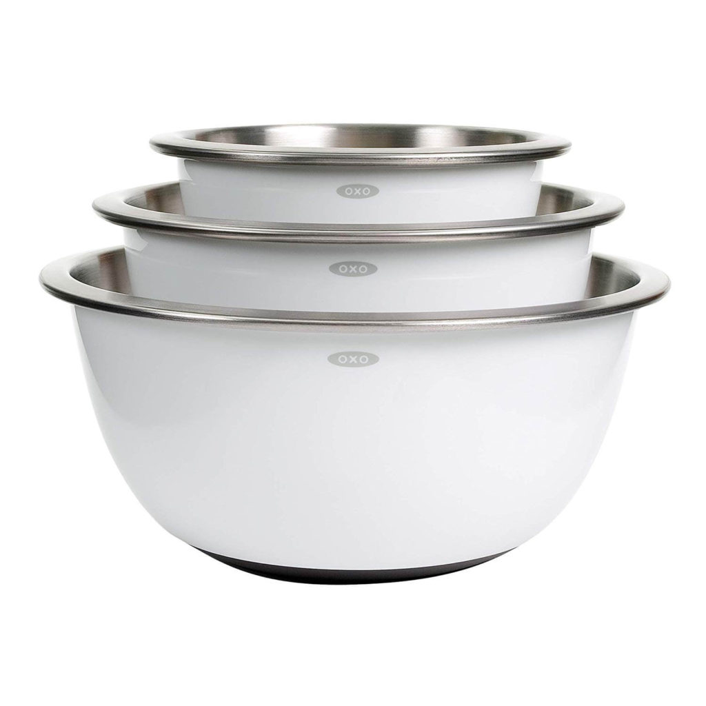 OXO Good Grips 3 Piece Stainless-Steel Mixing Bowl Set