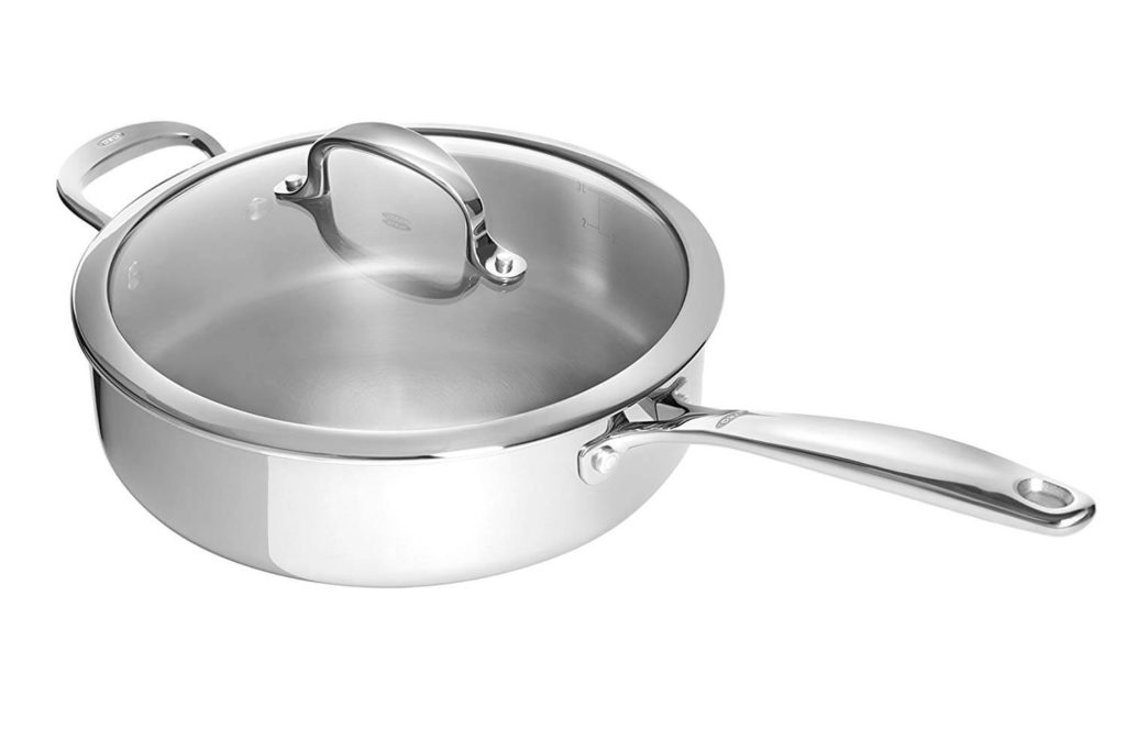 OXO Good Grips Tri Ply Stainless Steel Pro 4QT Covered Skillet