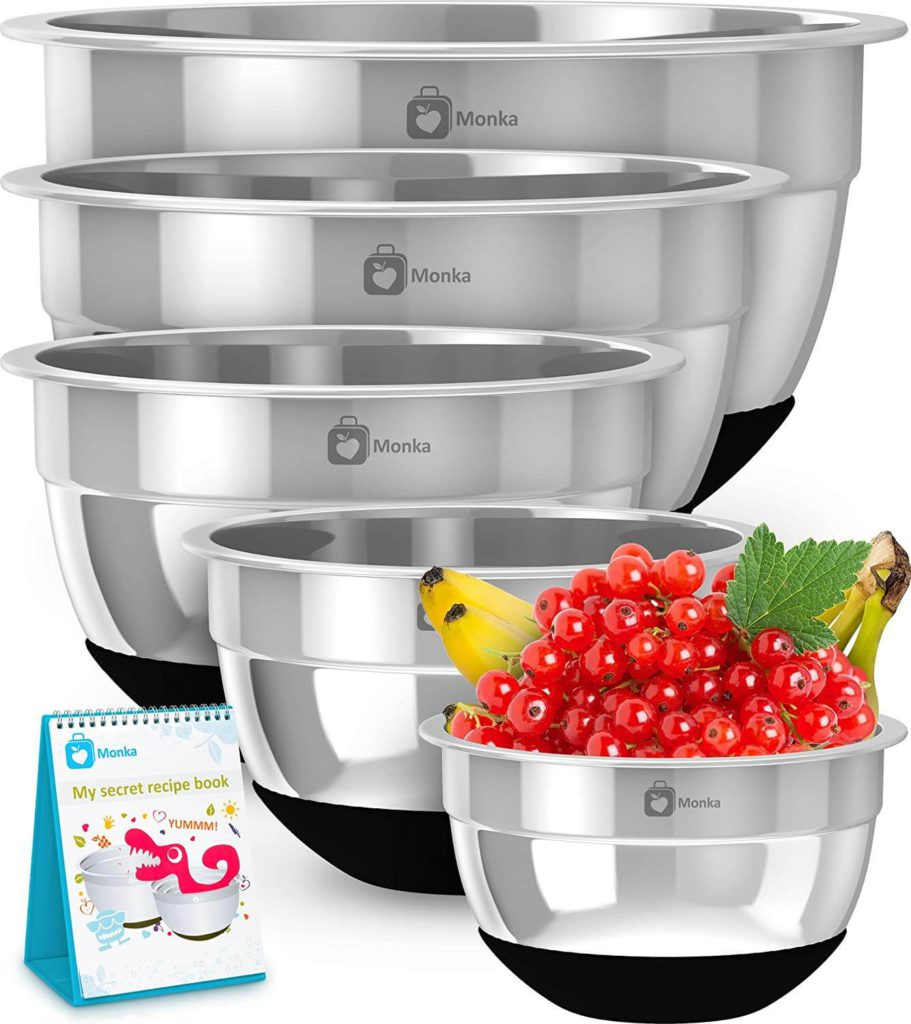 Premium Stainless Steel Mixing Bowls With Non Slip Bottom