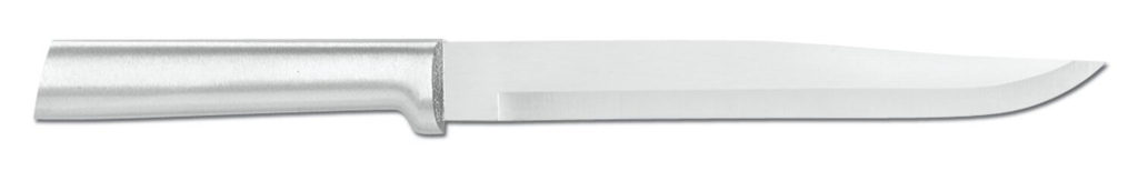Rada Cutlery Slicing Knife Stainless Steel Blade With Brushed Aluminum Handle Made in the USA