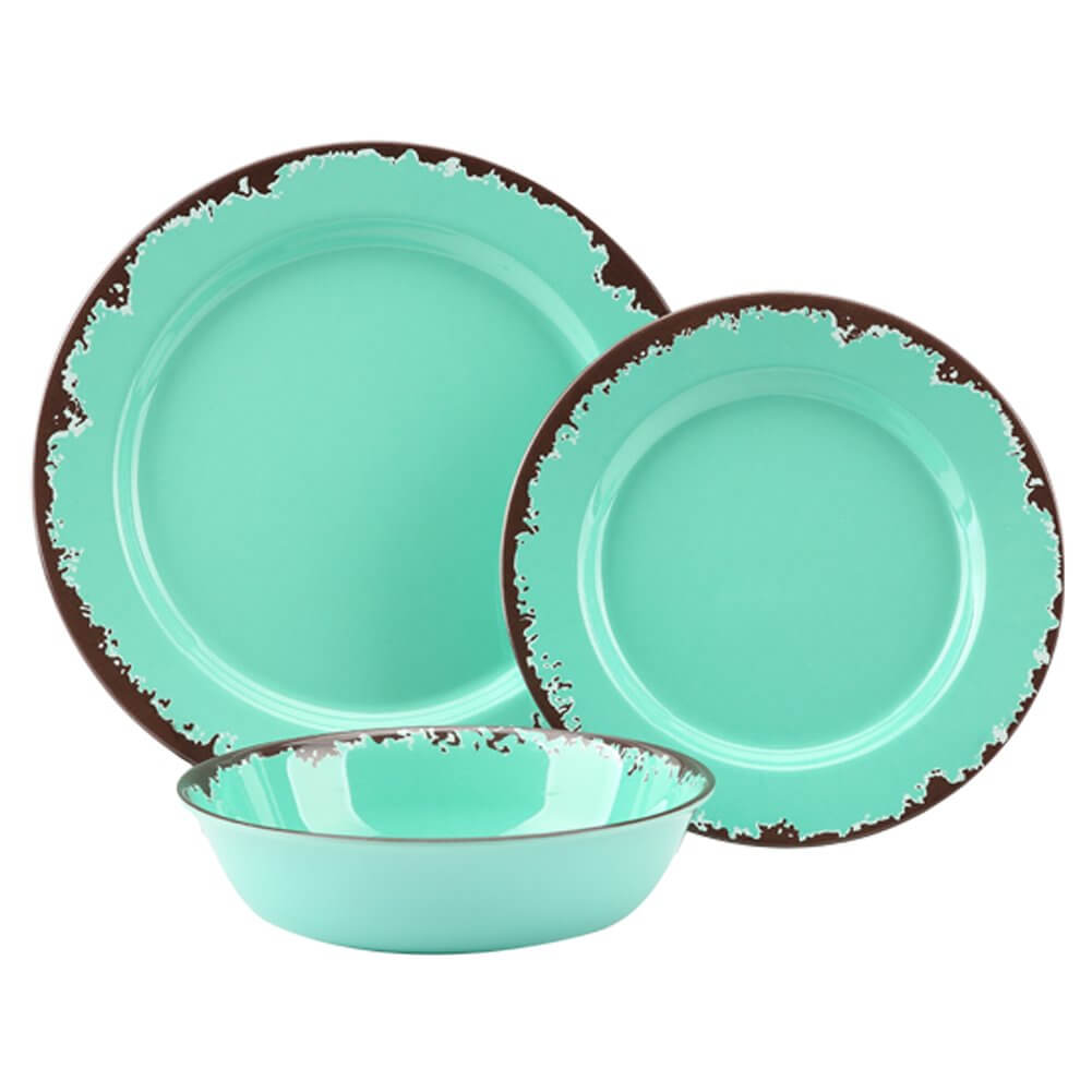 Rustic Melamine Dinnerware Set