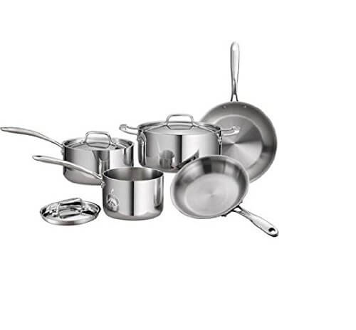 Tramontina 80116 544DS Stainless Steel Tri Ply Clad Cookware Set